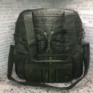 Lug Puddle Jumper Overnight Gym Bag Olive Green